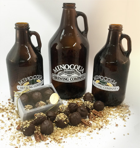 Bear Naked Brown Ale and Pudgy Possum Porter truffles